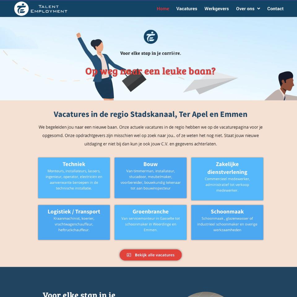 Webdesign uitzendbureau