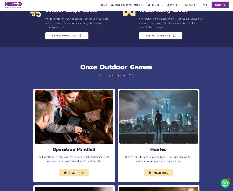 Hero Adventures Games
