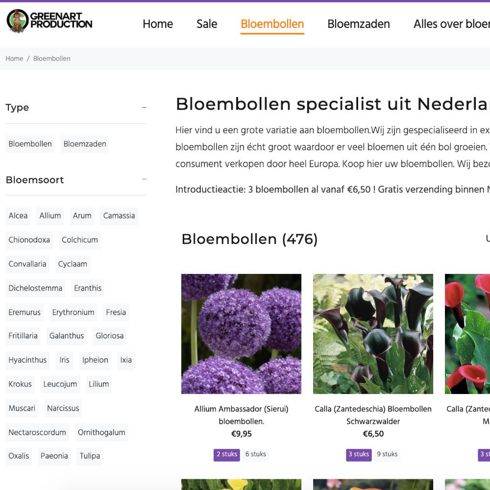 bloembollen webshop design en online marketing